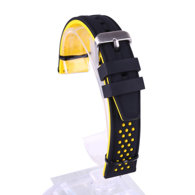 Silicone Watch Straps Rubber Waist Band Waterproof Quick Rel